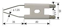 Электрод зажигания для дизельных горелок 40x25x35