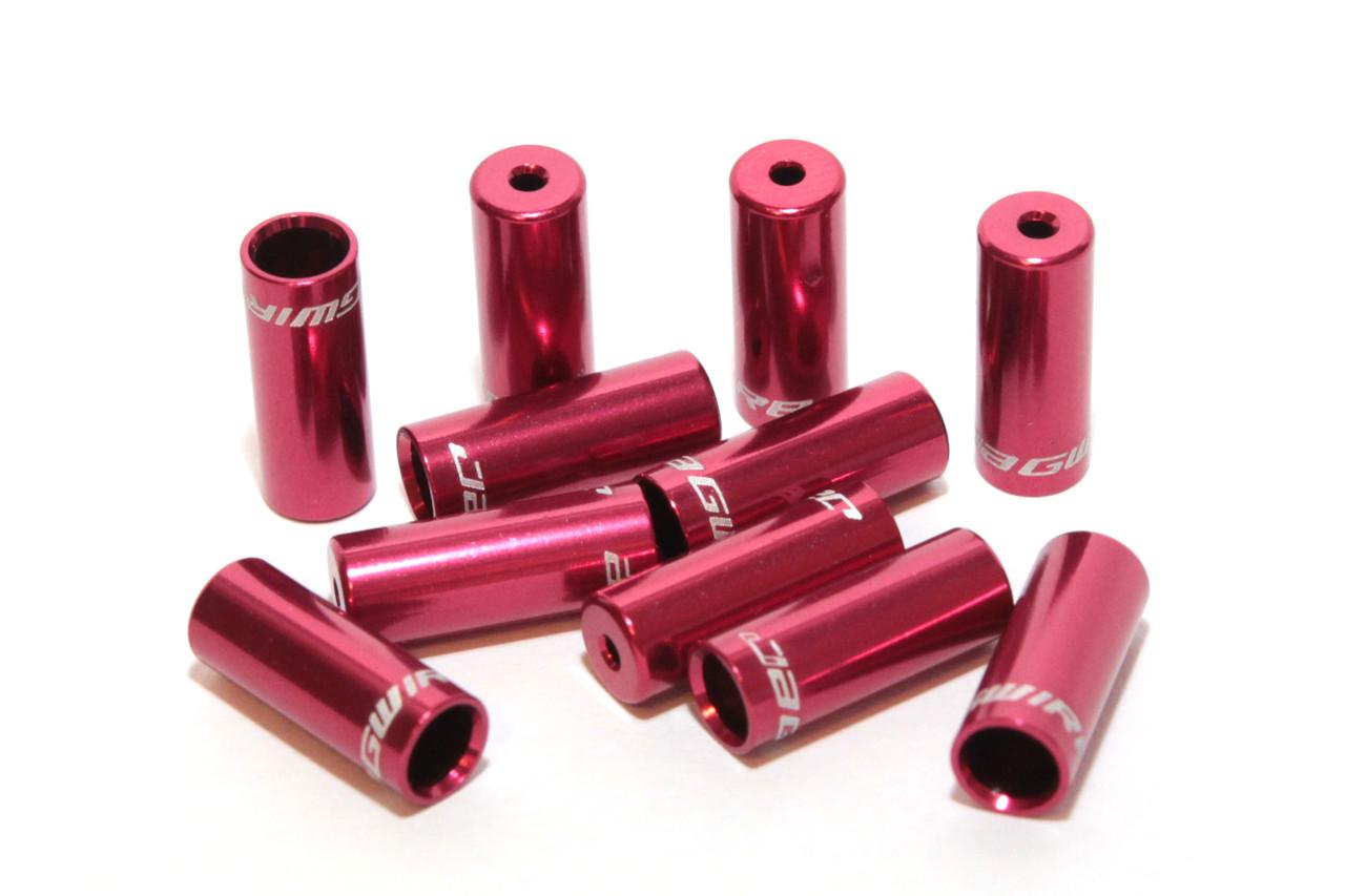 Концевик Jagwire для рубашек, боуденов переключения, 4 мм, красный