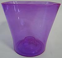 Вазон для орхидей фиолетовый
