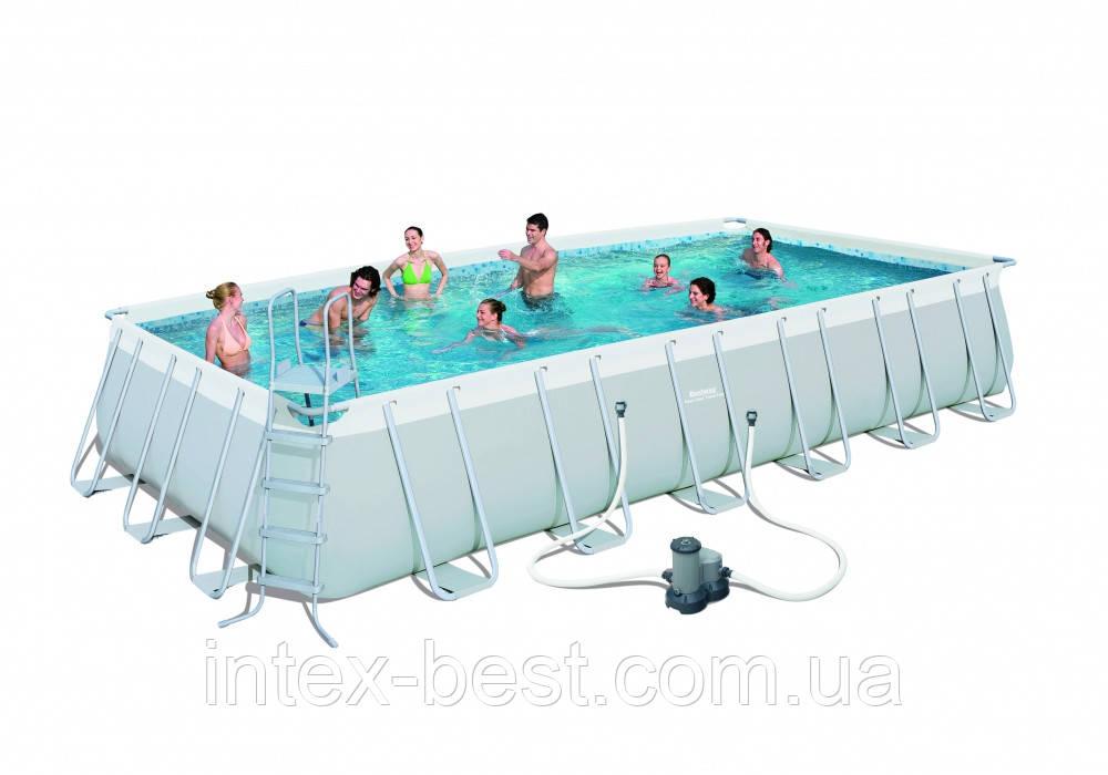 Bestway 56474 - (прямоугольный) каркасный бассейн Power Steel Rectangular Pool 732x366x132 см