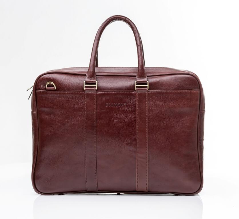 Кожаная мужская деловая сумка Blamont 023 цвет коньяк