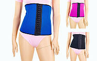 Пояс-утяжка SKULPTING CLOTHES женский 132 (PL+эластан, р-р S-XL, черный, малиновый, синий)