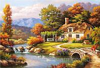 Раскраска по номерам MS612 Уютный дом у реки худ Сунг, Ким (40 х 50 см) Турбо