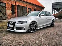 Накладки на пороги тюнинг обвес Audi A4 b8