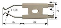 Электрод зажигания для дизельных горелок 40x25x32