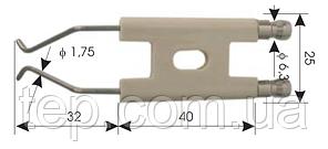 Електрод запалювання для дизельних пальників 40x25x32