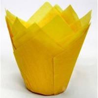 """Форма для кексов и маффинов  """"Тюльпан"""" -  желтый"""