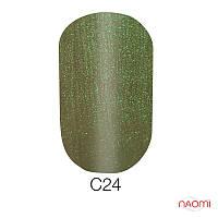 Гель-лак 6 мл Naomi Cat Eyes С24 хаки с зеленым бликом