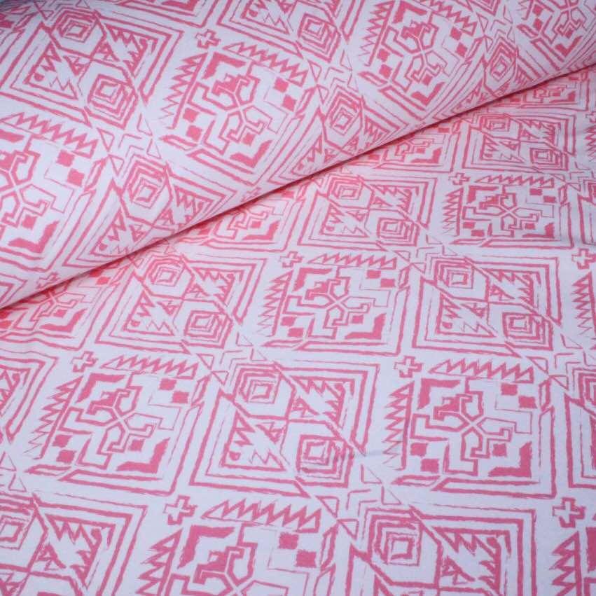 Джерсі ацтеків рожевий на айворі №0045