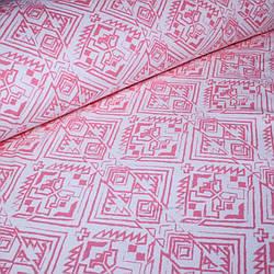 Джерси ацтеков розовый на айвори №0045