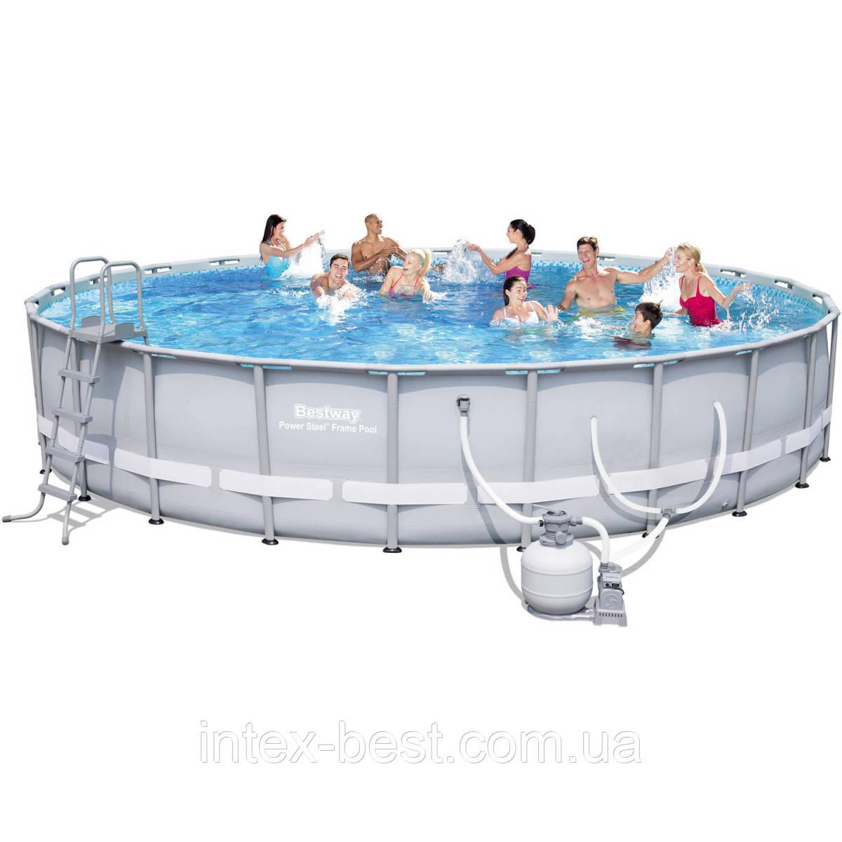 Bestway 56634 - круглый каркасный бассейн Power Steel Frame 671х132 см