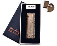 """USB зажигалка в подарочной упаковке """"Эйфелева башня"""" (двухсторонняя, спираль накаливания) №4793-5 SO"""