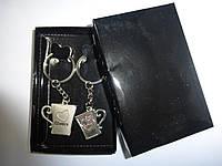 Набор из 2-х брелков металлических в подарочной упаковке