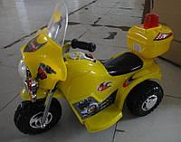 Мотоцикл детский электрический T-723 YELLOW (80*38*53см)