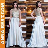"""Вечернее, выпускное, свадебное платье со шлейфом """"Меллони"""" M"""