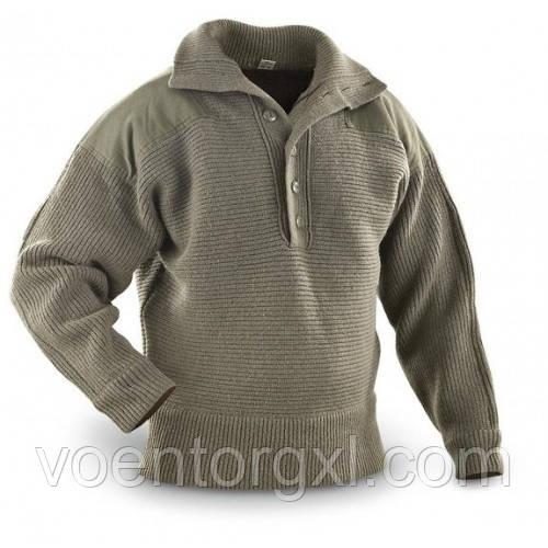 Пуловер (свитер) горно-егерский на пуговицах, ВС Австрии. Оригинал.
