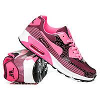 Модные женские кроссовки Nike Air Max 90 темно-розовые