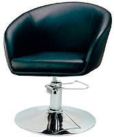 Парикмахерское дизайнерское кресло Мурат Р черная искусственная кожа поворотное с гидроподъемником