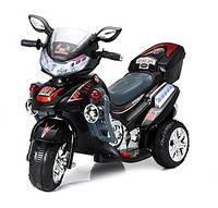 Электромобиль мотоцикл T-727 BLACK (102*41*64см), детский электромотоцикл