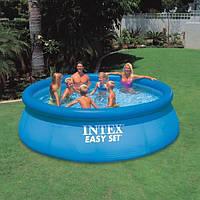 Надувной бассейн для дачи intex 366х91см