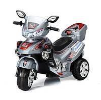 Мотоцикл детский электрический T-727 SILVER (102*41*64см)