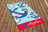Полотенце Lotus пляжное - Anchor 75*150 велюр