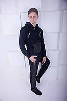 Спортивный костюм с кожаными вставками в стиле  Philipp Plein