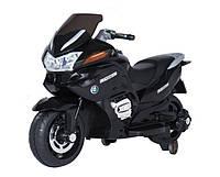 Электрический мотоцикл T-726 BLACK (125*60*65см), детский электромотоцикл