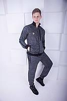 Спортивный костюм в стиле Armani EA7 серый, фото 1