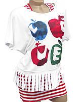 Молодежная футболка с майкой (в расцветках)