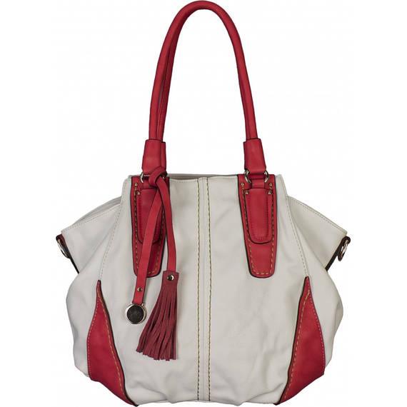 Сумка женская №G-1386-1 Белый с красным