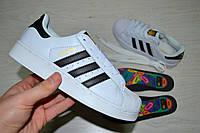 Женские кроссовки Адидас Супер Стра Adidas Superstar белые 2270