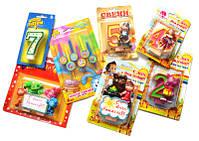 Свечи, аксессуары для детских праздников