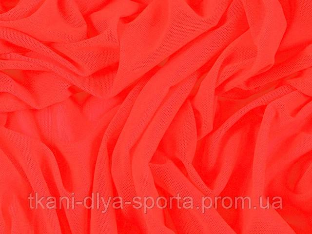 Стрейч-сетка CHRISANNE (Англия) красно-оранжевая (tango flare)