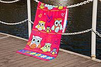 Полотенце Lotus пляжное - Owls 75*150 велюр