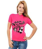 Американка женская с пандой малиновая, фото 1