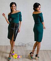 Женское платье до колена со змейкой