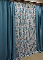 """Готовый комплект штор """"Маями"""" шторы+тюль, фото 2"""