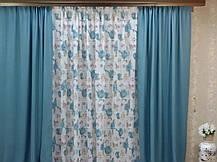 """Готовый комплект штор """"Маями"""" шторы+тюль, фото 3"""