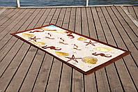 Полотенце Lotus пляжное - Sea Shell 75*150 велюр