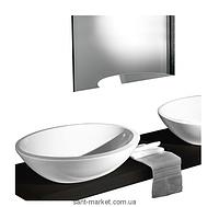 Раковина для ванной накладная AeT коллекция Motivi Spot Eclipse белая L212T0R0V0