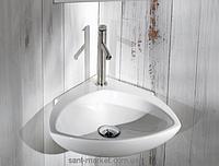 Раковина для ванной подвесная угловая AeT Motivi Spot Corner 44х44х15 белая L236T0R1V1