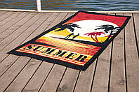 Полотенце Lotus пляжное - Summer Sunset 75*150 велюр