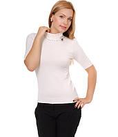 Американка женская с брошкой белая, фото 1