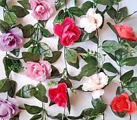 Искусственные лианы Роза раскрытая с добавкой , 2,5 м