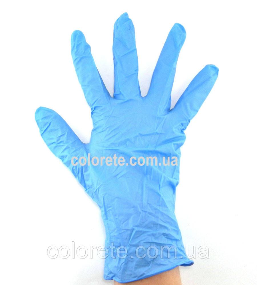 Перчатки нитриловые неопудренные голубые XS (10 шт./5 пар)