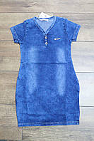 Платье для девочек ( джинсовый трикотаж) 10 лет