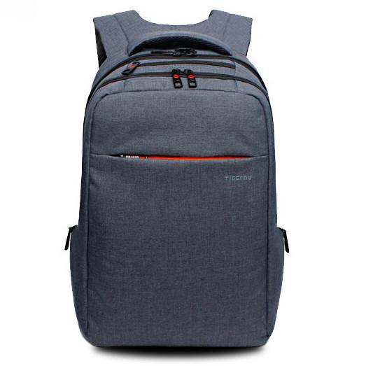 """рюкзак для ноутбука 15,6"""" Тigernu, стальной серый, вместительный, с отделением для ноутбука, тигерну, тайгерну"""