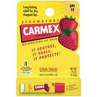 """Carmex Strawberry Stick Lip Balm SPF 15 - Восстанавливающий лечебный бальзам для губ """"Клубника"""" 4.25 г"""