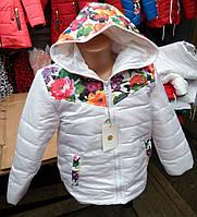 Куртка детская для девочки деми 4-8 лет